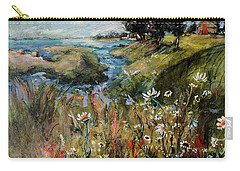 Hill Top Wildflowers Carry-all Pouch by Sharon Furner