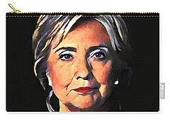 Hillary Clinton Carry-all Pouch by Dan Sproul