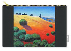Carry-all Pouch featuring the painting Hills And Beyond by Gary Coleman