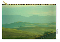 Hills In The Early Morning Light Digital Impressionist Art Carry-all Pouch