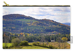 Carry-all Pouch featuring the photograph Hills Of Vermont by Corinne Rhode