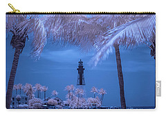 Hillsboro Inlet Lighthouse Infrared Carry-all Pouch by Louis Ferreira