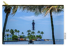 Hillsboro Inlet Lighthouse Carry-all Pouch by Louis Ferreira