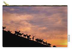 Carry-all Pouch featuring the photograph Hillside Elk by Darren White