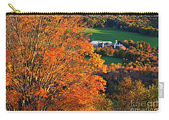 Carry-all Pouch featuring the photograph Hillside Farm In Fall by Alan L Graham