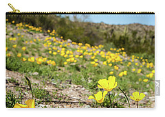 Hillside Flowers Carry-all Pouch by Ed Cilley