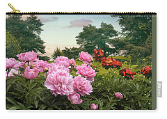 Hillside Peonies Carry-all Pouch by Jessica Jenney