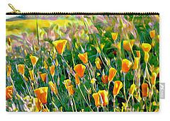Hillside Poppies - Impressions Three Carry-all Pouch by Glenn McCarthy Art