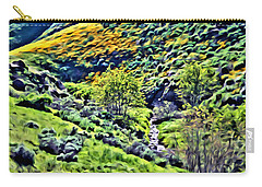 Hillside Poppies - Impressions Two Carry-all Pouch by Glenn McCarthy Art