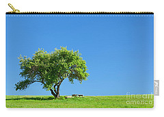Carry-all Pouch featuring the photograph Hilltop Picnic by Alan L Graham