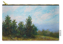 Carry-all Pouch featuring the painting Hilltop Trees by Kathleen McDermott