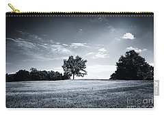 Hilly Black White Landscape Carry-all Pouch
