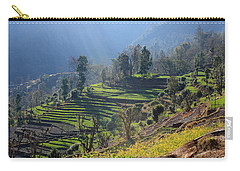Himalayan Stepped Fields - Nepal Carry-all Pouch by Aidan Moran