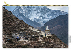 Carry-all Pouch featuring the photograph Himalayan Yak Train by Mike Reid