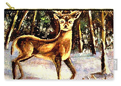 Carry-all Pouch featuring the painting Hinds Feet by Hazel Holland