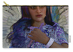 Carry-all Pouch featuring the painting Hindustani Angel by Suzanne Silvir