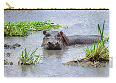 Hippo In The Serengeti Carry-all Pouch