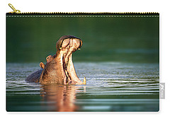 Hippopotamus Carry-all Pouch by Johan Swanepoel