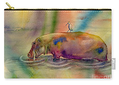 Hippy Dippy Carry-all Pouch by Amy Kirkpatrick