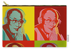 Carry-all Pouch featuring the digital art His Holiness The Dalai Lama Of Tibet by Jean luc Comperat