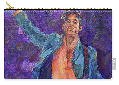 His Purpleness - Prince Tribute Painting - Original Art Carry-all Pouch by Quin Sweetman