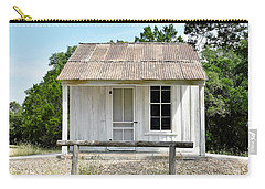Carry-all Pouch featuring the photograph Historic Clint's Cabin by Ray Shrewsberry