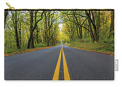 Historic Columbia River Highway Two Way Lanes In Fall Carry-all Pouch
