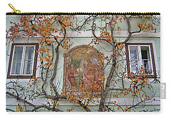 Historic House Facade In Bad Goisern Hallstatt Salzkammergut Aus Carry-all Pouch by Menega Sabidussi