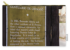 Historic Marker For The Santuario Carry-all Pouch