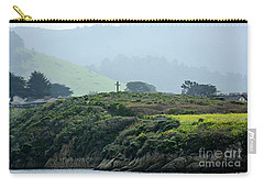 Carry-all Pouch featuring the photograph Historic Portola Cross In Carmel by Susan Wiedmann