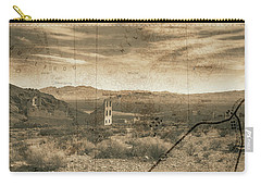 Historic Rhyolite Nevada With Map Carry-all Pouch by Bartz Johnson