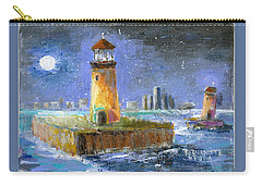 Historical 1859 South Channel Lights Full Moon Carry-all Pouch