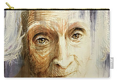 Carry-all Pouch featuring the painting Histories And Memories Of Ancestral Light 3 by J- J- Espinoza