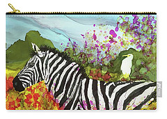 Carry-all Pouch featuring the painting Hitching A Ride by Suzanne Canner