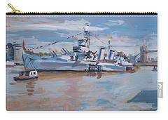 Hms Belfast Shows Off In The Sun Carry-all Pouch