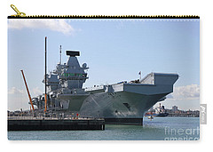 Hms Queen Elizabeth Aircraft Carrier At Portmouth Harbour Carry-all Pouch