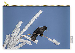 Hoarfrost And The Crow Carry-all Pouch by Alana Thrower