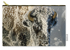 Hoarfrosted Bison In Yellowstone Carry-all Pouch