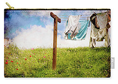 Hobbit Clothesline And Poppies Carry-all Pouch