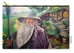 Carry-all Pouch featuring the painting Hobbit by Paul Weerasekera