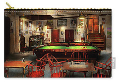 Carry-all Pouch featuring the photograph Hobby - Pool - The Billiards Club 1915 by Mike Savad