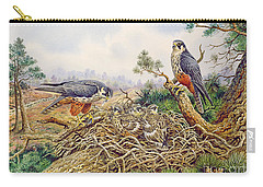 Hobbys At Their Nest Carry-all Pouch by Carl Donner