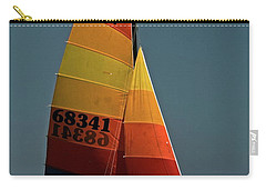 Carry-all Pouch featuring the photograph Hobie Cat In Surf by Sally Weigand