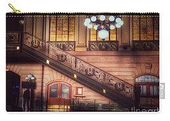 Hoboken Train Station - Vintage Beauty Of New Jersey Carry-all Pouch