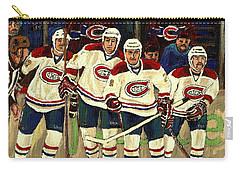 Hockey Art The Habs Fab Four Carry-all Pouch