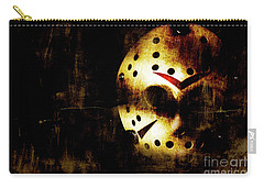 Hockey Mask Horror Carry-all Pouch by Jorgo Photography - Wall Art Gallery