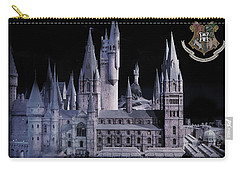 Carry-all Pouch featuring the mixed media Hogwards School  by Gina Dsgn