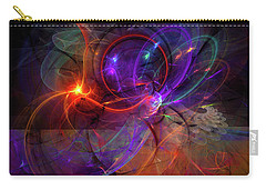 Hold On Love - Abstract Colorful Art Carry-all Pouch