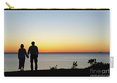Carry-all Pouch featuring the photograph Holding Hands By  Sunset  by Kennerth and Birgitta Kullman