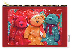 Carry-all Pouch featuring the photograph Holiday Bears by Diane Alexander